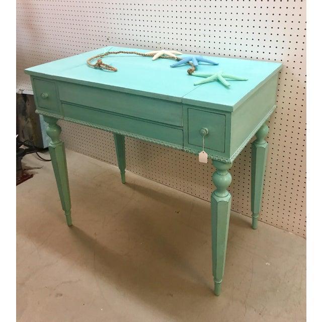 Seafoam Green Antique Desk - Image 6 of 6
