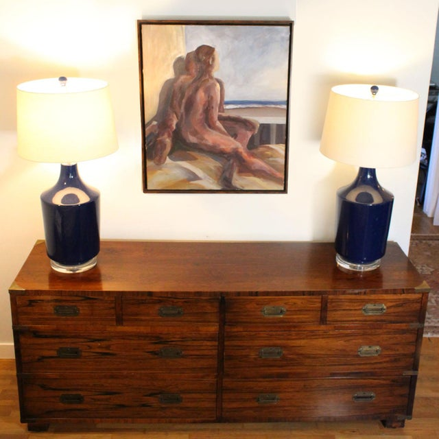 1960s 20th Century Campaign John Stuart Dresser Chest of Drawers in Rosewood & Brass For Sale - Image 5 of 7