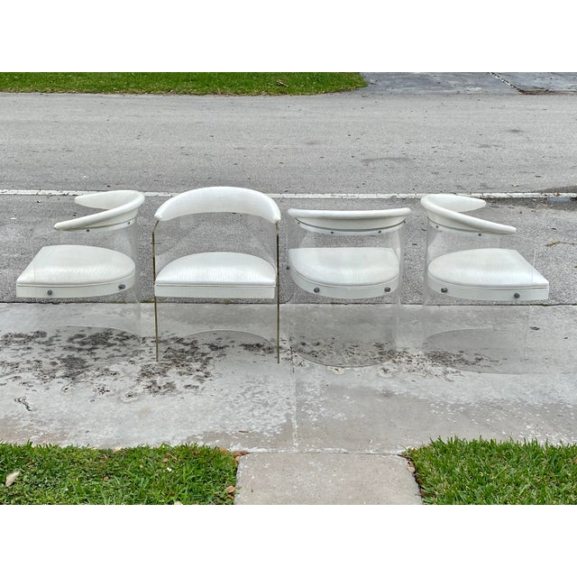 Lucite Barrel Back Chairs - Set of 4 For Sale - Image 13 of 13