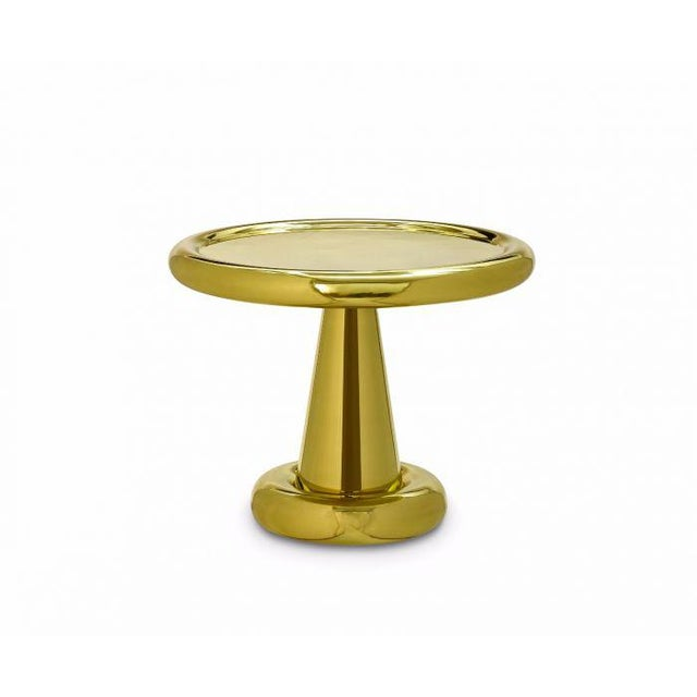 Metal Tom Dixon Short Brass Spun Side Table For Sale - Image 7 of 7