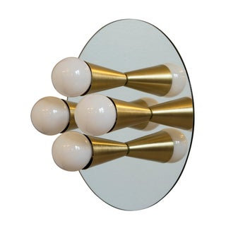 Modern Brass Echo 4 Sconce For Sale