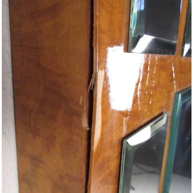 Vintage Modern Burlwood Mirror in the Style of Milo Baughman For Sale In New York - Image 6 of 11