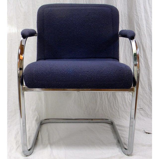 Bauhaus Mid-Century Modern Chrome Arm Chair For Sale - Image 3 of 6