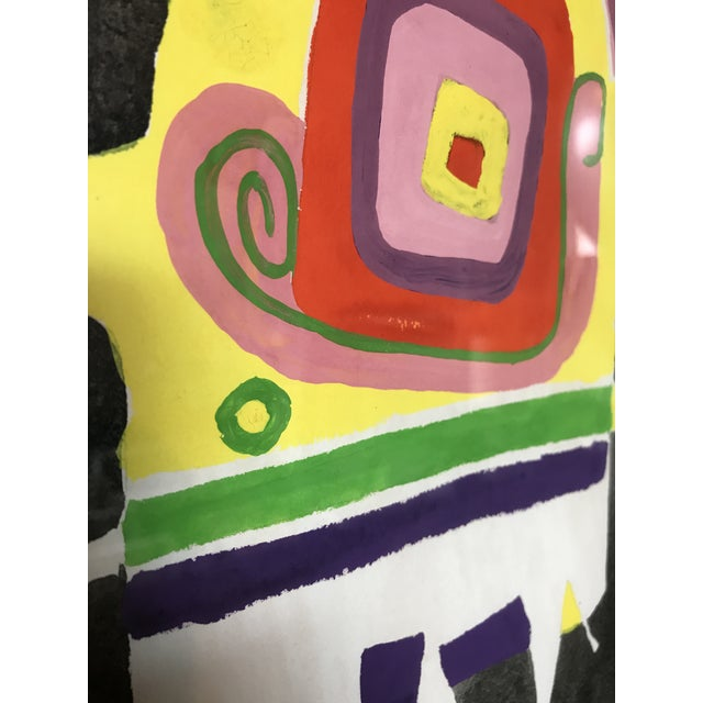 Norman Hoberman Abstract Painting Mixed Media 1959 For Sale - Image 4 of 11