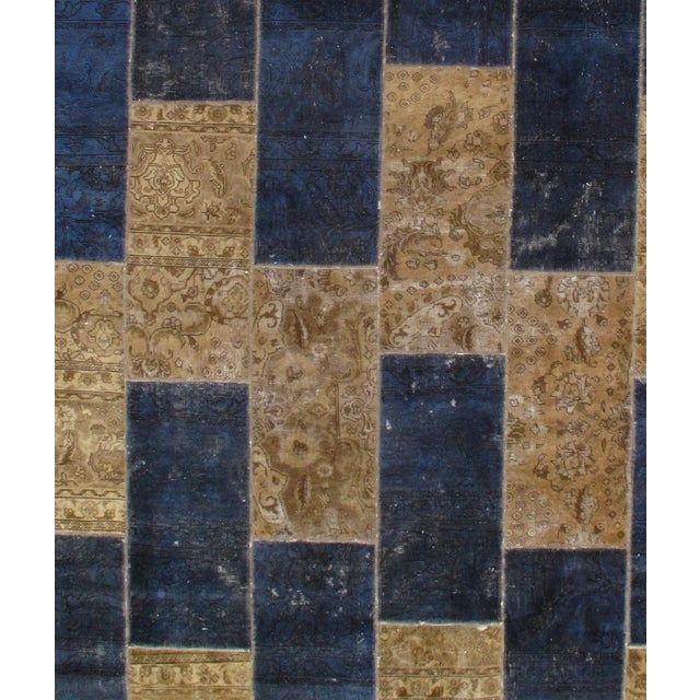 Original Persian Patch Work. Hand-Knotted Oriental Rug. Very Decorative and Practical with very strong velvet back. The...