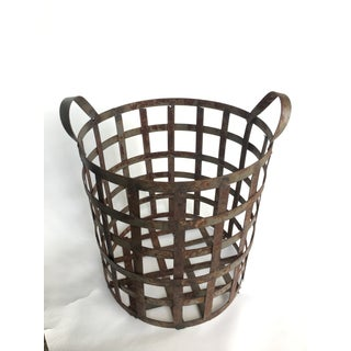Early 20th Century American Industrial Woven Metal Basket Preview
