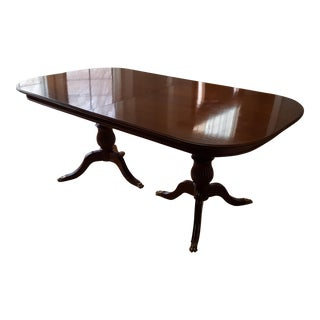 Artisan Crafted Regency Expandable Dining Table For Sale