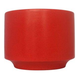 1960's Gainey Ceramics Red Planter For Sale