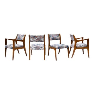 1950's Harvey Probber Mahogany Dining Chairs, 1950s For Sale
