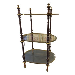 Empire Brass & Mahogany Antique Side Table