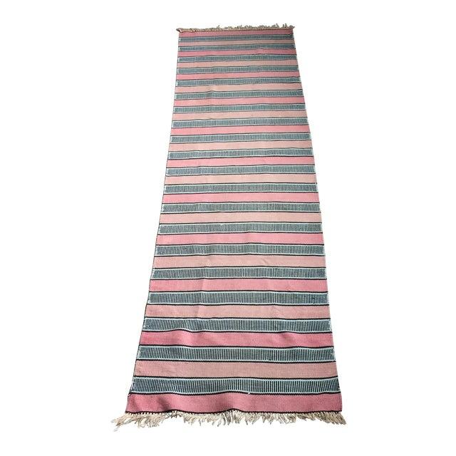 Vintage Woven Striped Runner Rug - 2′4″ × 8′2″ - Image 1 of 10