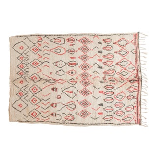 1980's Vintage Hand Made Moroccan Beni Ourain Rug- 6′3″ × 9′6″ For Sale