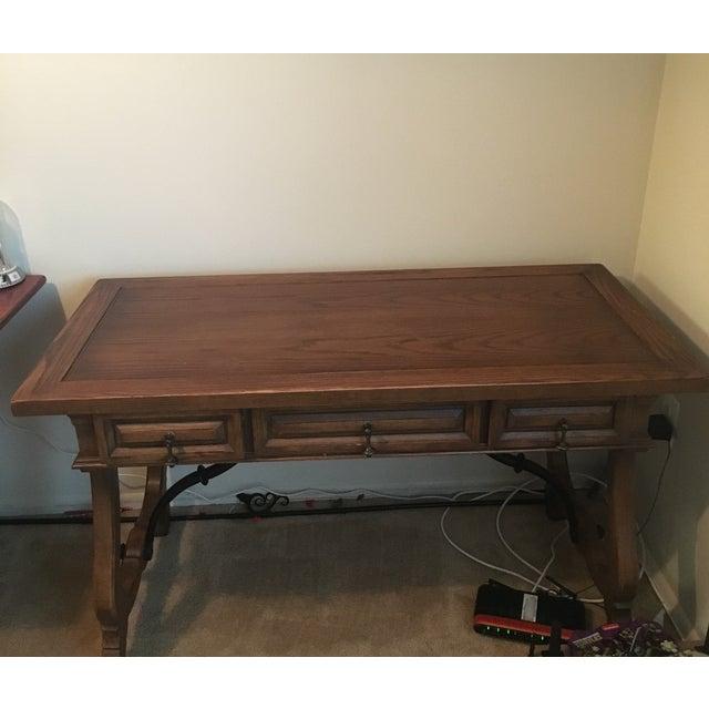 Hekman Spanish Trestle Desk/Writing Table - Image 2 of 5