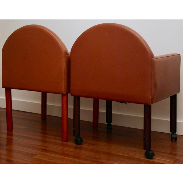 Boho Chic Postmodern Leather Chairs, Set of 2 For Sale - Image 3 of 11