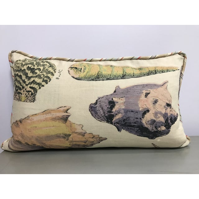 Specimen Sea Shell Design Decorative Lumbar Throw Pillows - a Pair For Sale - Image 4 of 7