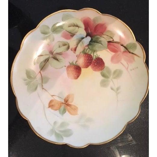 "Limoges Handpainted Plate ""Pitlin & Brooks"" - Image 2 of 3"