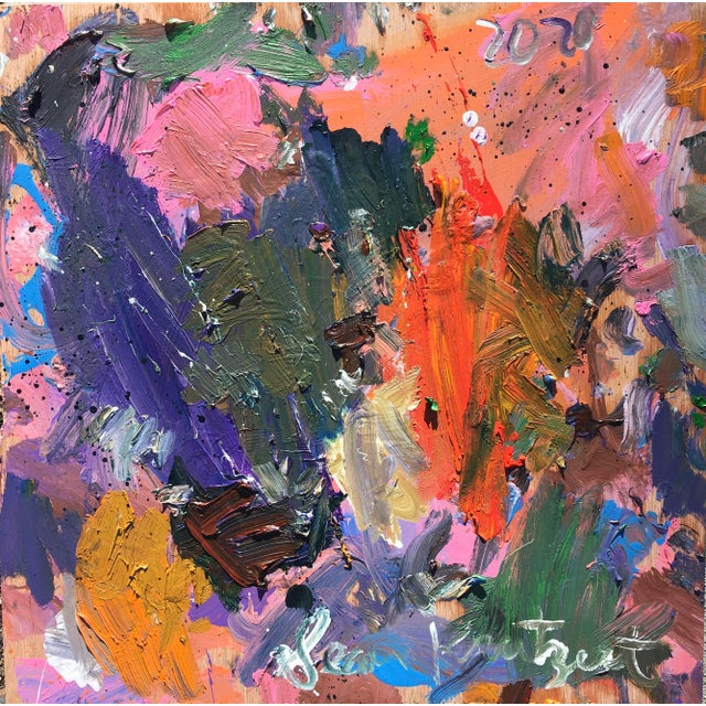 'Debussy Magnolia' Abstract Oil Painting by Sean Kratzert For Sale