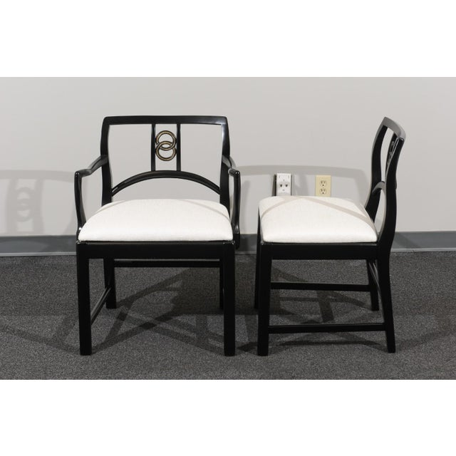 Chic Restored Set of 6 Dining Chairs by Baker Furniture, circa 1960 For Sale - Image 9 of 13