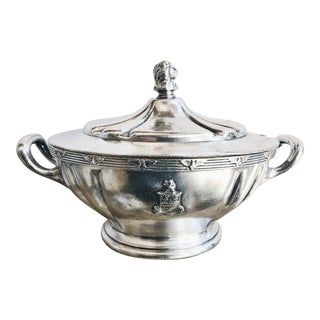 Vintage Silver Plated Tureen From the Stevens Hotel Chicago For Sale