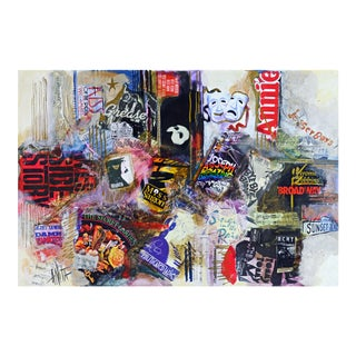 'Broadway Allegory' Collage Painting by Anita Baldwin