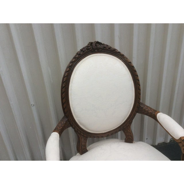French Style Chair With Oval Back For Sale In San Antonio - Image 6 of 7