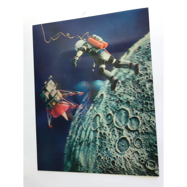 1960s Lenticular Animation Moon Landing Astronaut Prints From 1966 - Set of 4 For Sale - Image 5 of 12