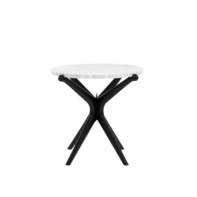 Ebonized Gazelle Side Table For Sale