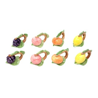 Vintage Fitz & Floyd Fruit Napkin Holders - Set of 8