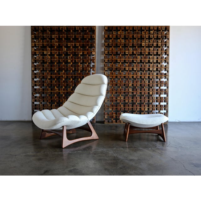 1960s Adrian Pearsall Lounge Chair and Ottoman for Craft Associates Inc., Circa 1960 For Sale - Image 5 of 13
