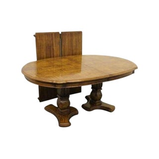 20th Century Traditional Stanley Furniture Venicia Collection Double Pedestal Dining Table For Sale