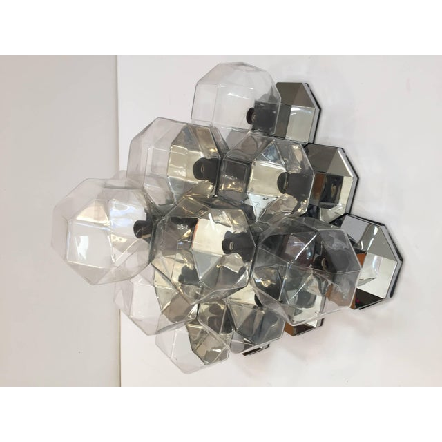 Asian 1970s Extra Large Modular Wall or Ceiling Lamp by Motoko Ishii for Staff For Sale - Image 3 of 10