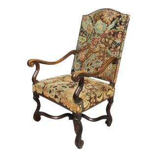 Flemish Baroque Walnut and Needlepoint Armchair