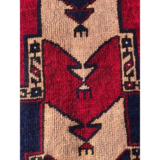 """Textile Vintage Kurdish Wide Runner - 5'1"""" x 12' For Sale - Image 7 of 11"""