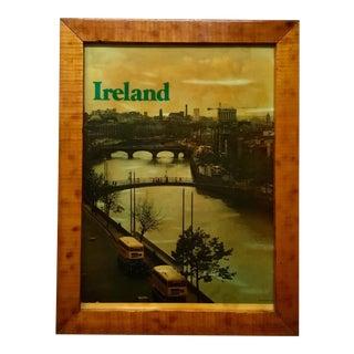 "Vintage ""Dublins Fair City"" Ireland Travel Poster"