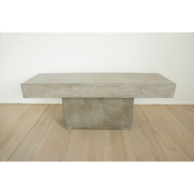 CB Concrete Resin Fuze Bench Chairish - Cb2 cement coffee table