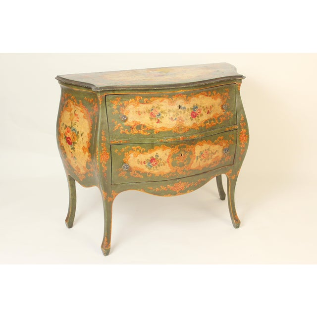 1930s Italian Louis XV Style Painted Commode For Sale - Image 5 of 12