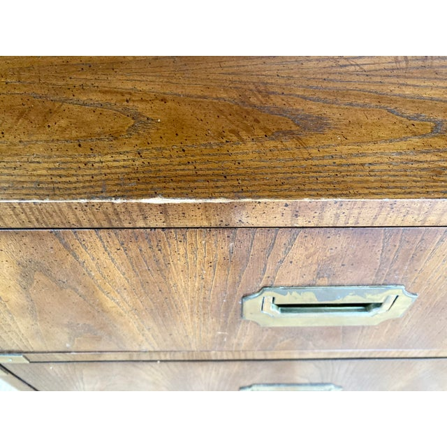 Late 20th Century Dixie Campaign Desk With Hutch For Sale - Image 9 of 13