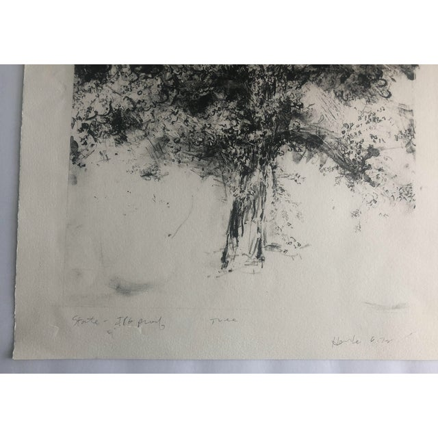 Modern 1978 Abstract Tree Lithograph by Dellas Henke For Sale - Image 3 of 6