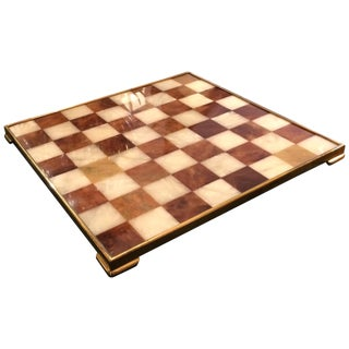 Handsome Marble and Brass Game Board For Sale