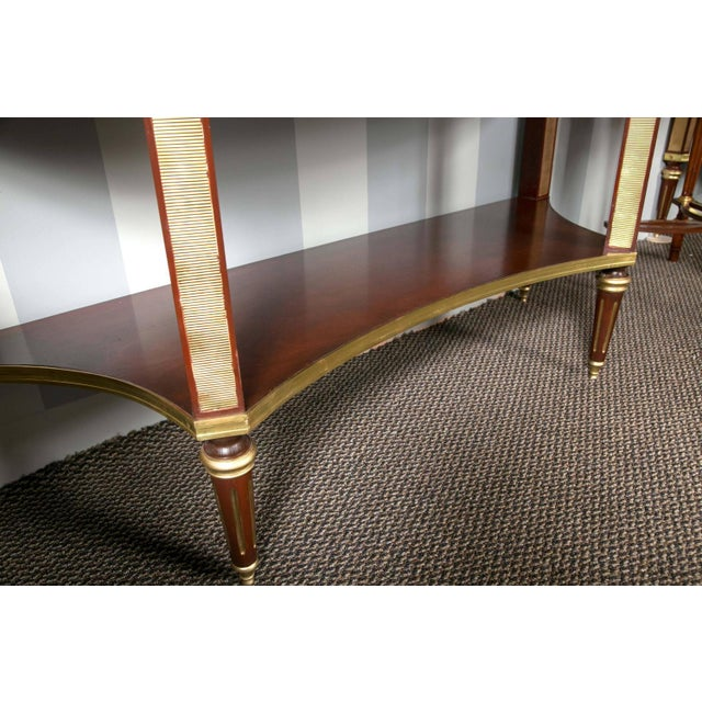Jansen Marble Top Demilune Console Tables - A Pair - Image 5 of 9