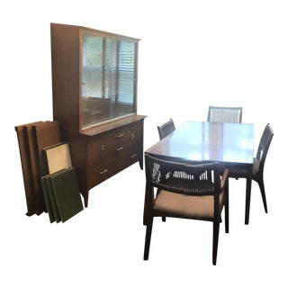 Mid Century Modern Drexel Dining Room Set For Sale