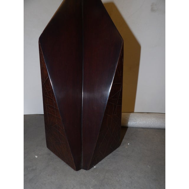 Contemporary Wood Obelisk Lamp For Sale - Image 4 of 7