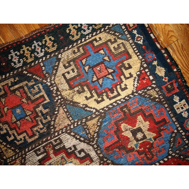 Hand Made Antique Collectible Persian Kurdish Rug - 3.5' X 4.6' - Image 3 of 6