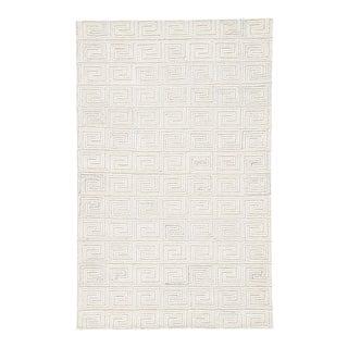 Jaipur Living Harkness Handmade Geometric White & Gray Area Rug - 5′ × 8′ For Sale