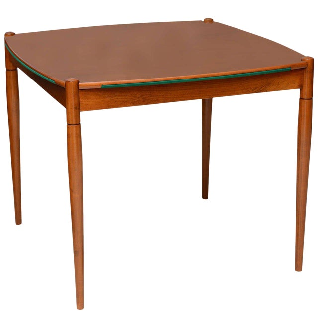 Italian Modern Walnut Game Table by Gio Ponti for Singer & Sons For Sale