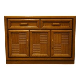 "Bassett Furniture Oak Mission Shaker Style 46"" Slide-Top Server Buffet 4261-4162-390 For Sale"