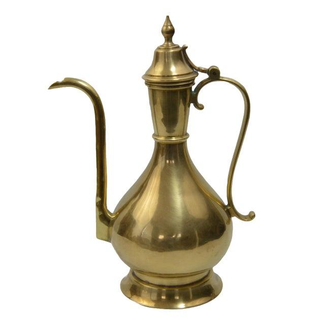 Bohemian Turkish Brass Kettle For Sale