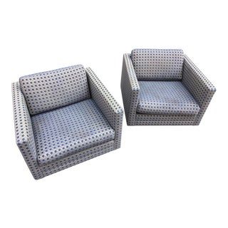 Harvey Probber Pair of Swivel Club Chairs For Sale