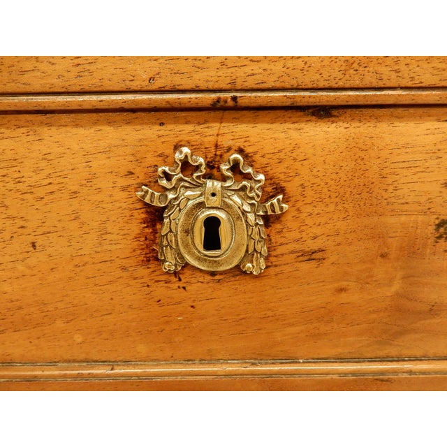 Brown Louis XVI Walnut 19th Century Commode For Sale - Image 8 of 10
