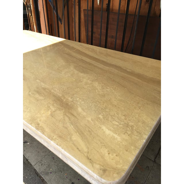 1960s Italian Travertine Dining Table For Sale - Image 4 of 13